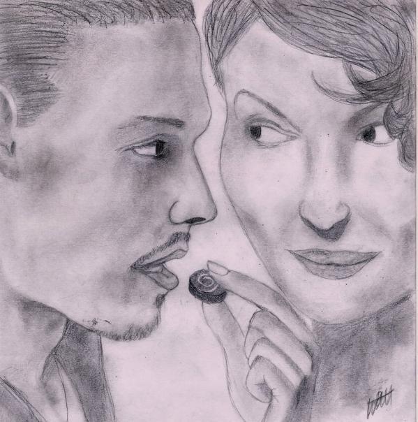 Juliette Binoche, Johnny Depp by Wieker21